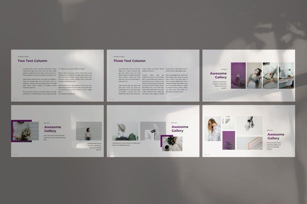 Purplack Creative Google Slide, Slide 5, 06361, Presentation Templates — PoweredTemplate.com
