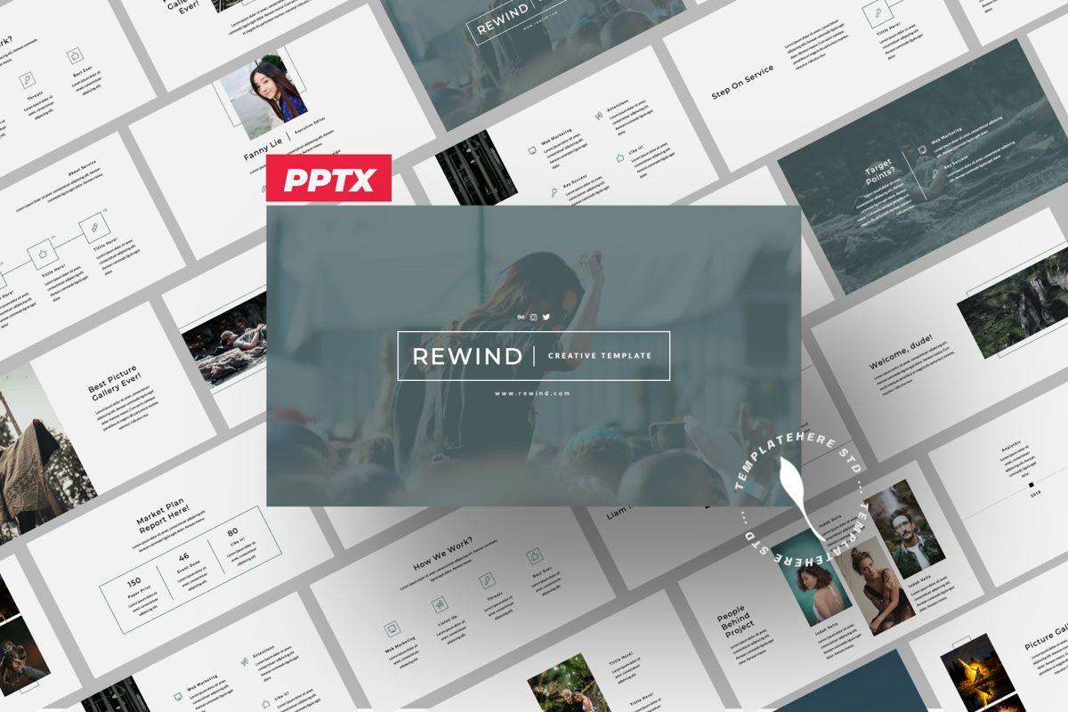Rewind Creative Powerpoint, 06362, Presentation Templates — PoweredTemplate.com