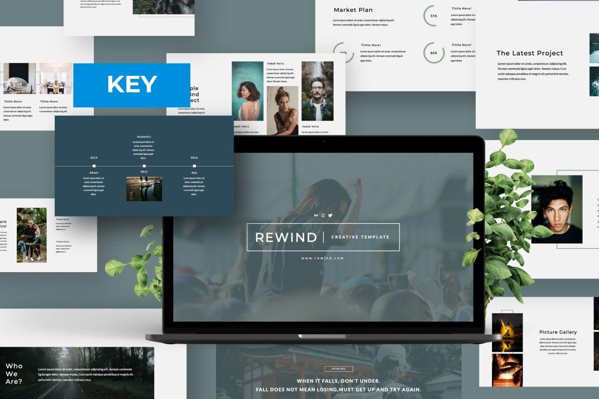 Rewind Creative Keynote, 06363, Presentation Templates — PoweredTemplate.com