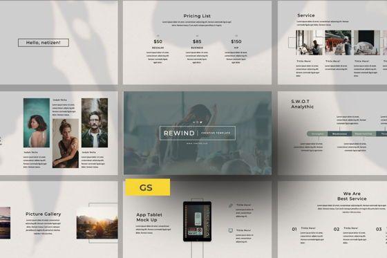 Presentation Templates: Rewind Creative Google Slide #06364