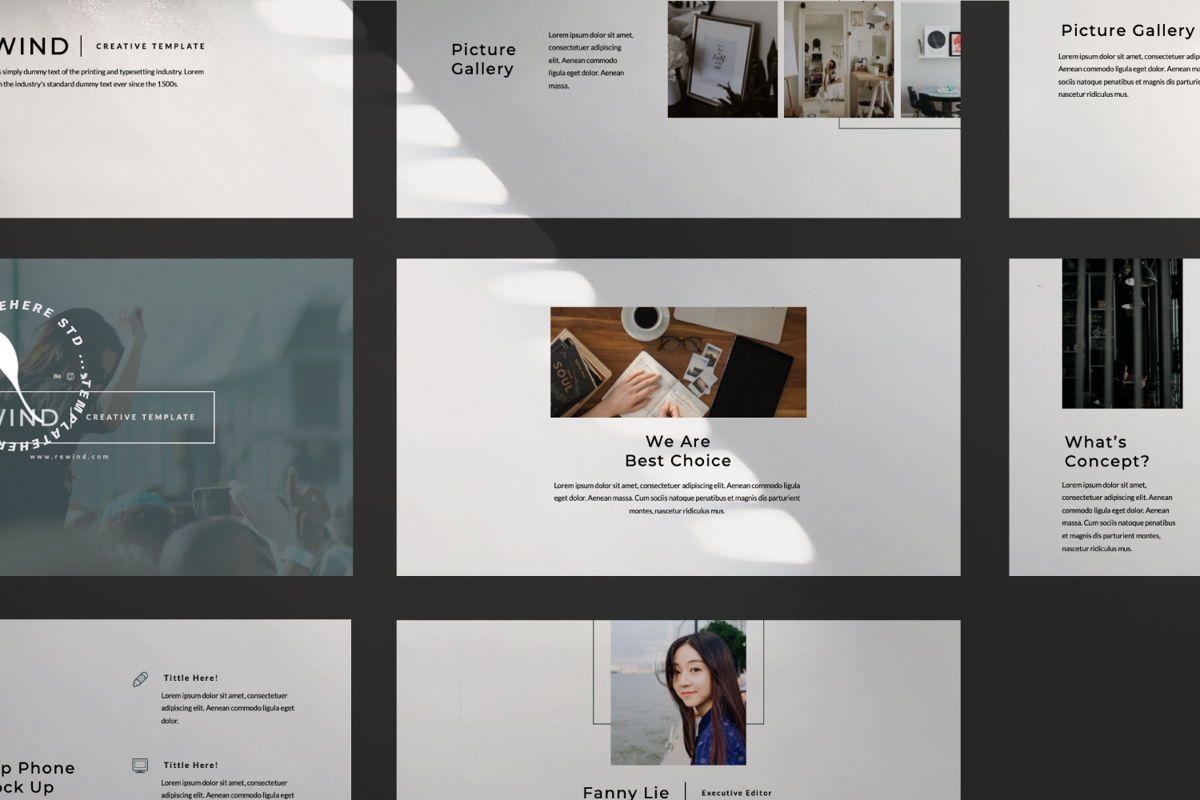 Rewind Creative Google Slide, Slide 9, 06364, Presentation Templates — PoweredTemplate.com