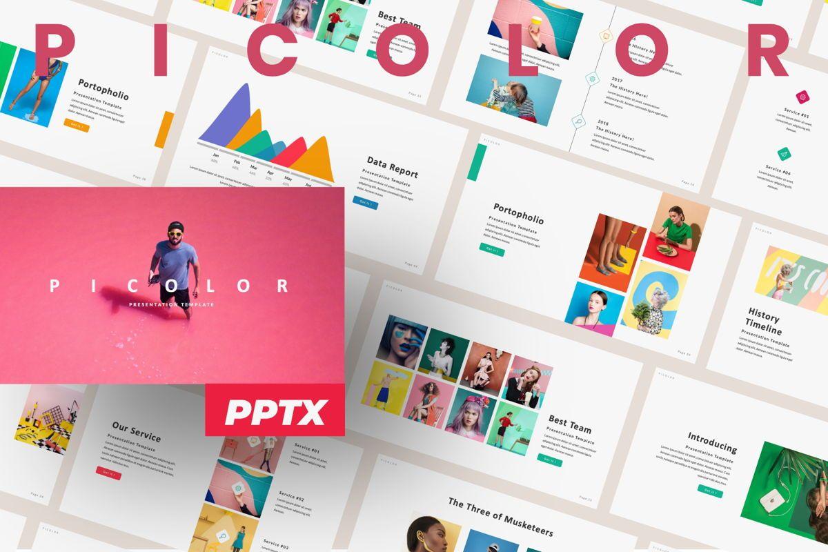 Picolor Creative Powerpoint, 06365, Presentation Templates — PoweredTemplate.com