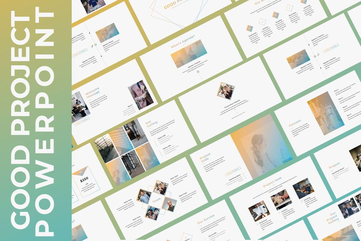 Good Project Creative Powerpoint, 06368, Presentation Templates — PoweredTemplate.com