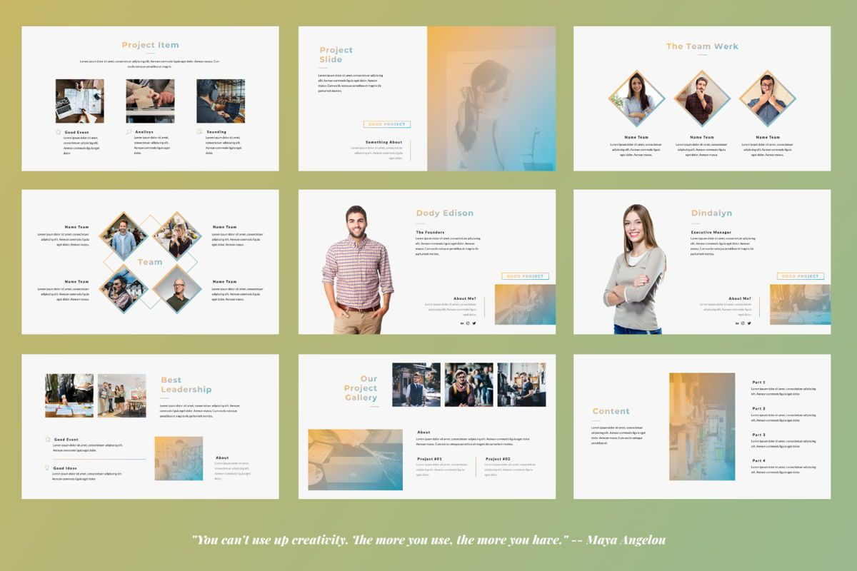 Good Project Creative Powerpoint, Slide 3, 06368, Presentation Templates — PoweredTemplate.com