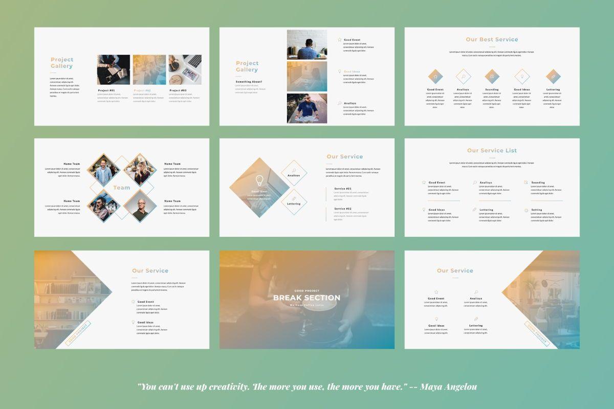 Good Project Creative Powerpoint, Slide 4, 06368, Presentation Templates — PoweredTemplate.com