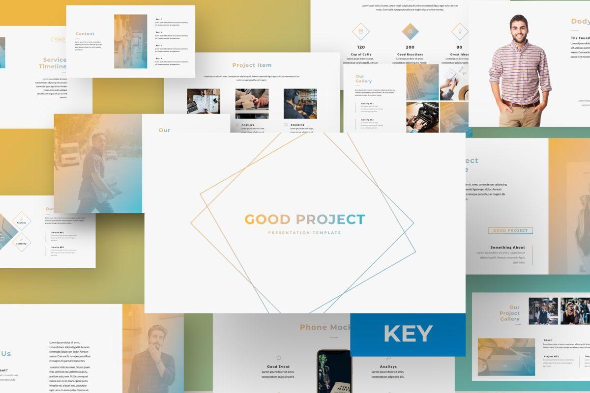 Good Project Creative Keynote, 06369, Presentation Templates — PoweredTemplate.com