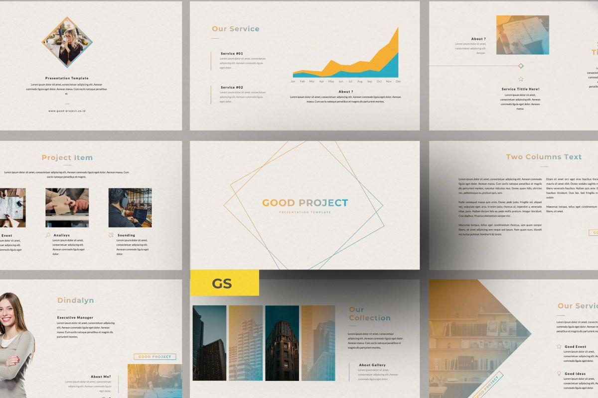 Good Project Creative Google Slide, 06370, Presentation Templates — PoweredTemplate.com