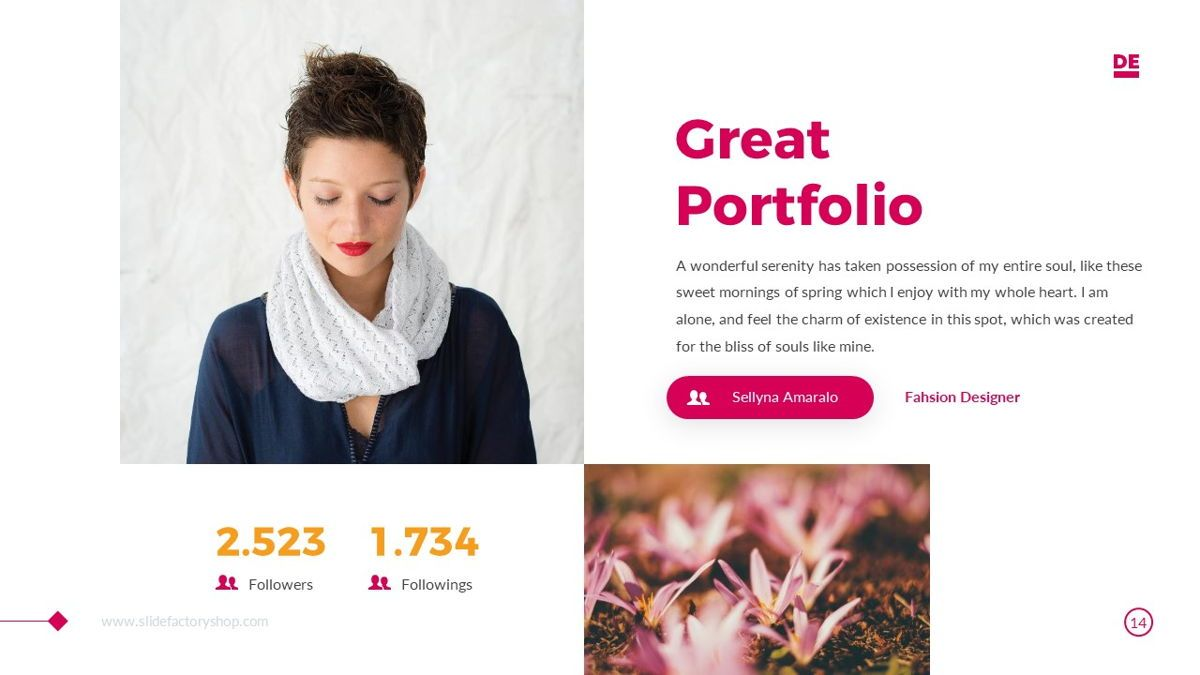 Derulo - Fashion Powerpoint Template, Slide 15, 06371, Data Driven Diagrams and Charts — PoweredTemplate.com