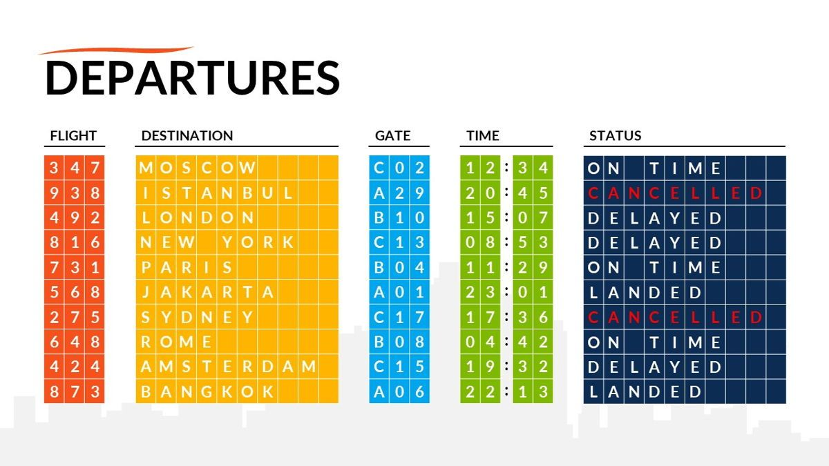 Airwaves - Airlines Powerpoint Template, Slide 26, 06372, Business Models — PoweredTemplate.com