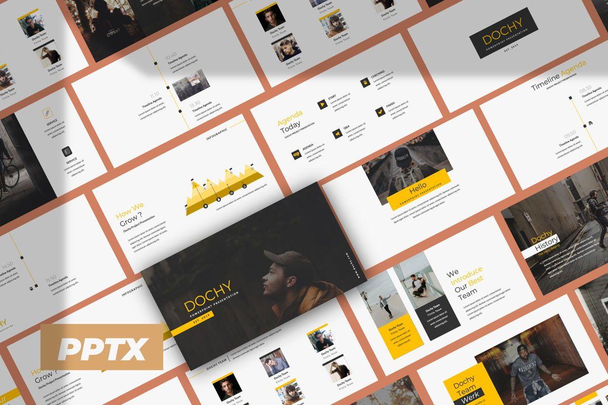 Dochy Creative Powerpoint, 06373, Presentation Templates — PoweredTemplate.com