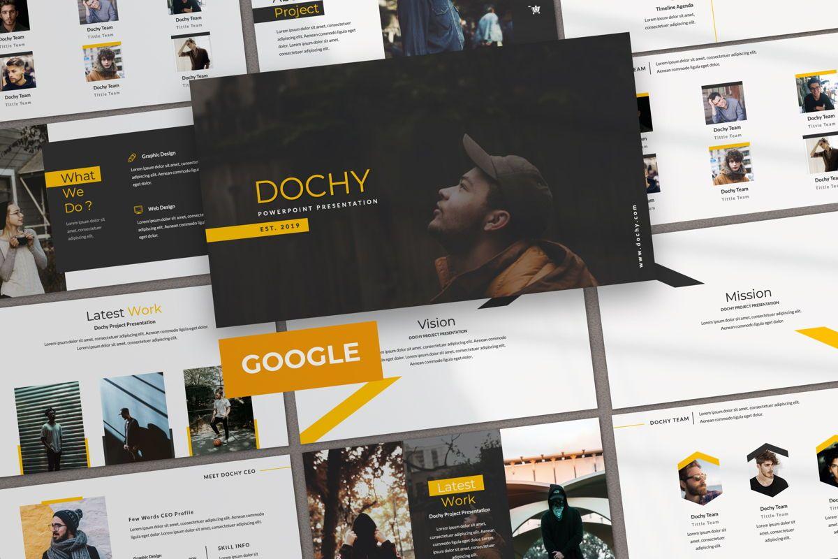 Dochy Creative Google Slide, 06375, Presentation Templates — PoweredTemplate.com