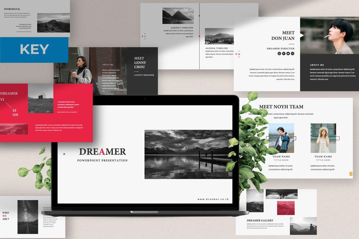 Dreamer Creative Keynote, 06378, Presentation Templates — PoweredTemplate.com