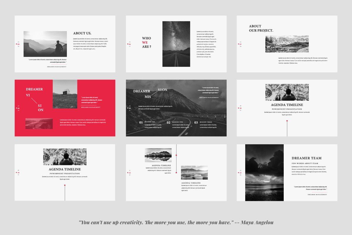 Dreamer Creative Keynote, Slide 2, 06378, Presentation Templates — PoweredTemplate.com