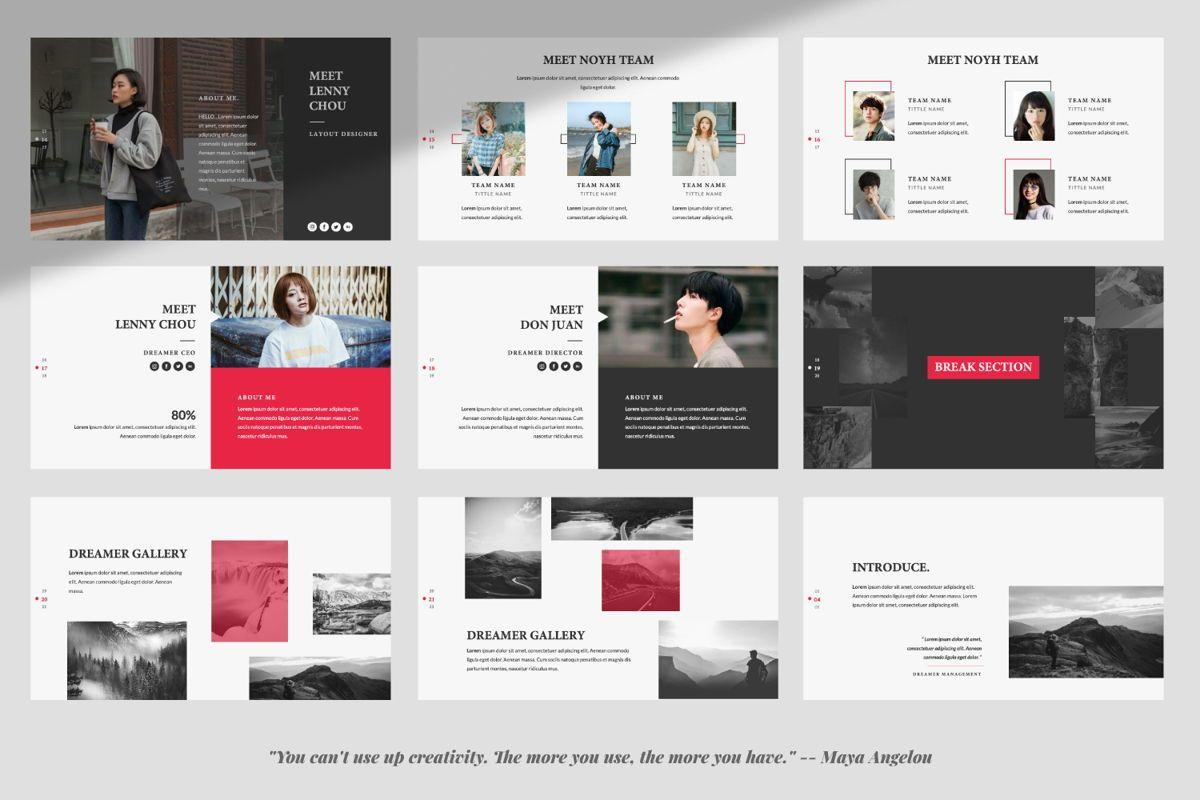 Dreamer Creative Keynote, Slide 3, 06378, Presentation Templates — PoweredTemplate.com