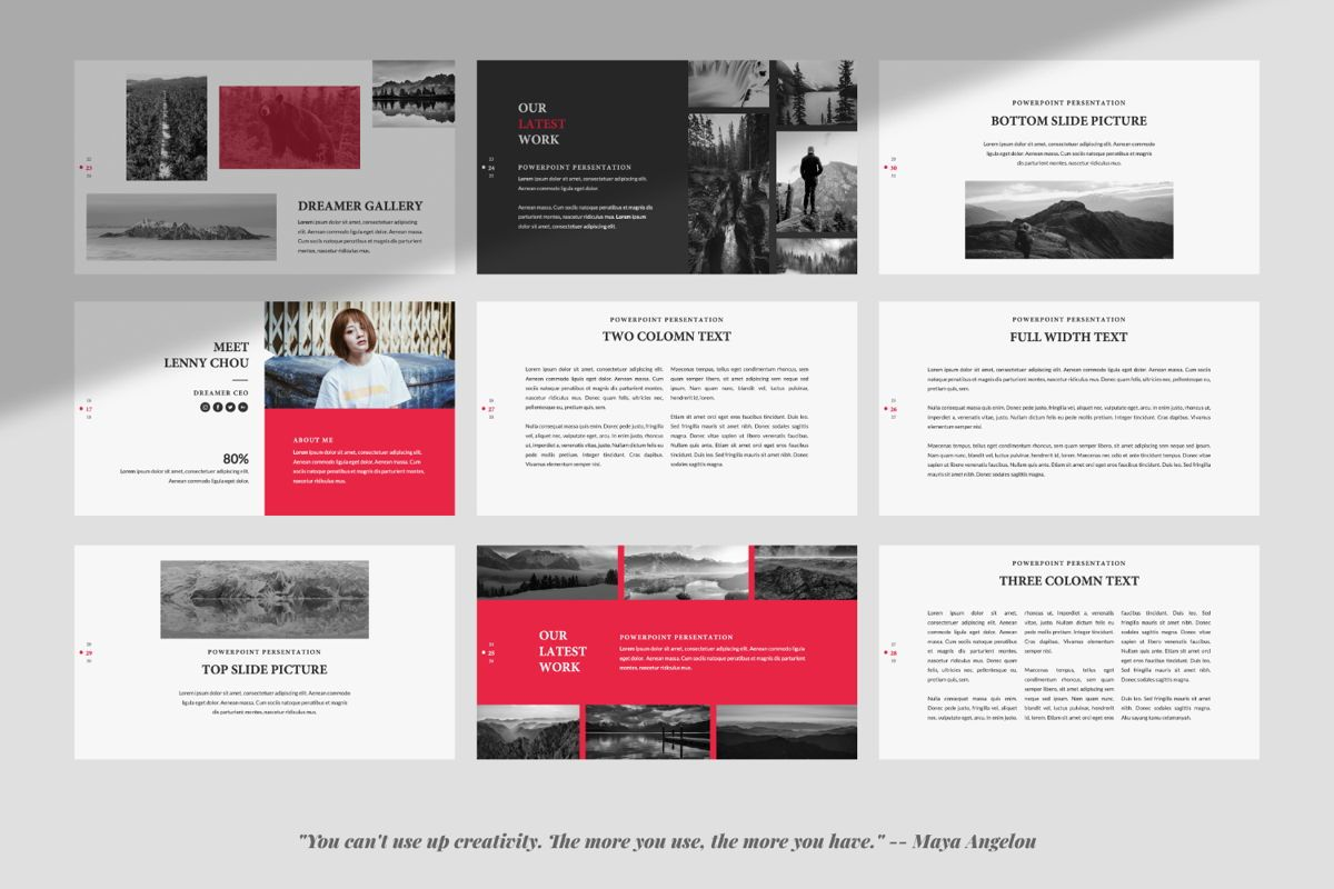 Dreamer Creative Keynote, Slide 4, 06378, Presentation Templates — PoweredTemplate.com