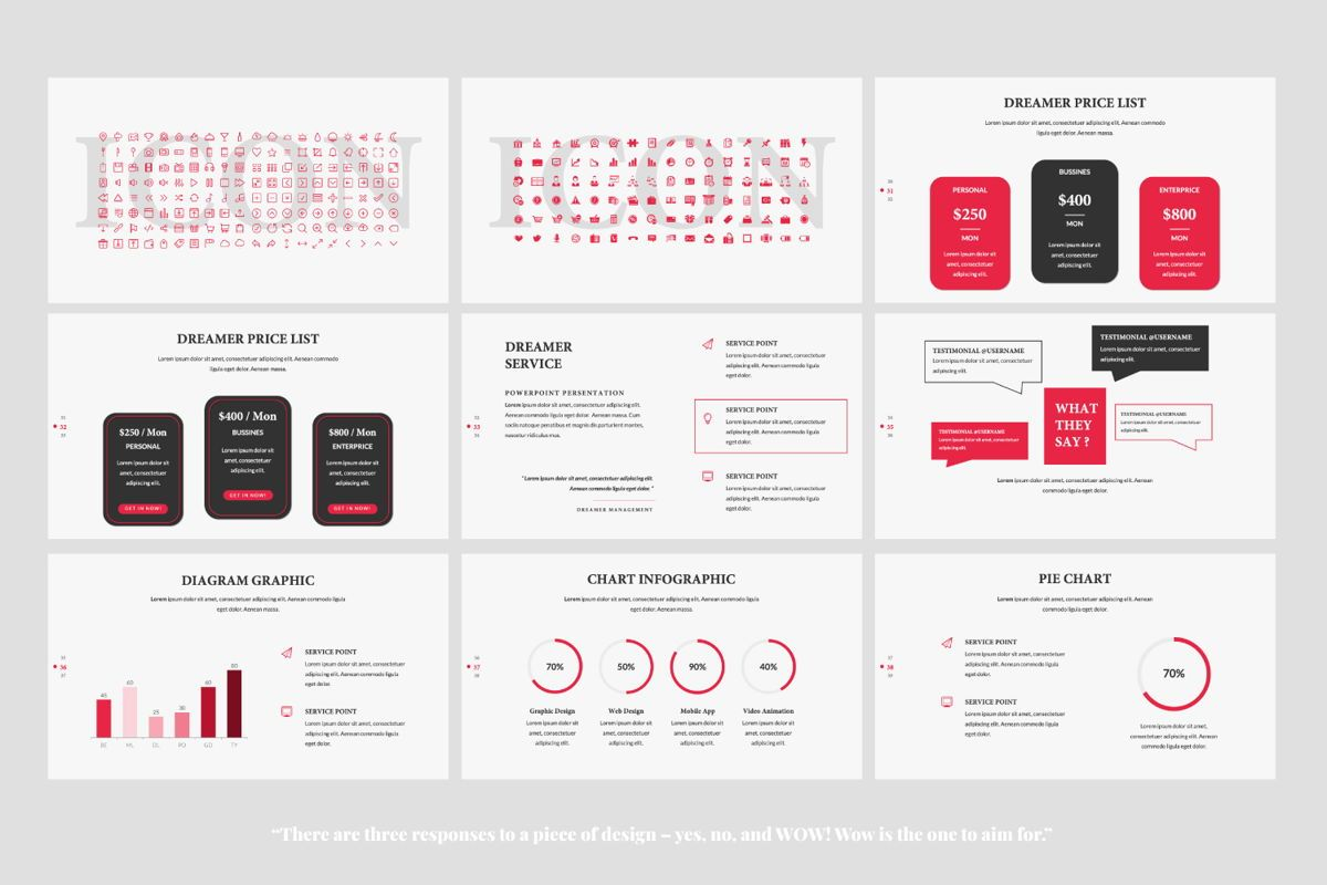 Dreamer Creative Keynote, Slide 5, 06378, Presentation Templates — PoweredTemplate.com
