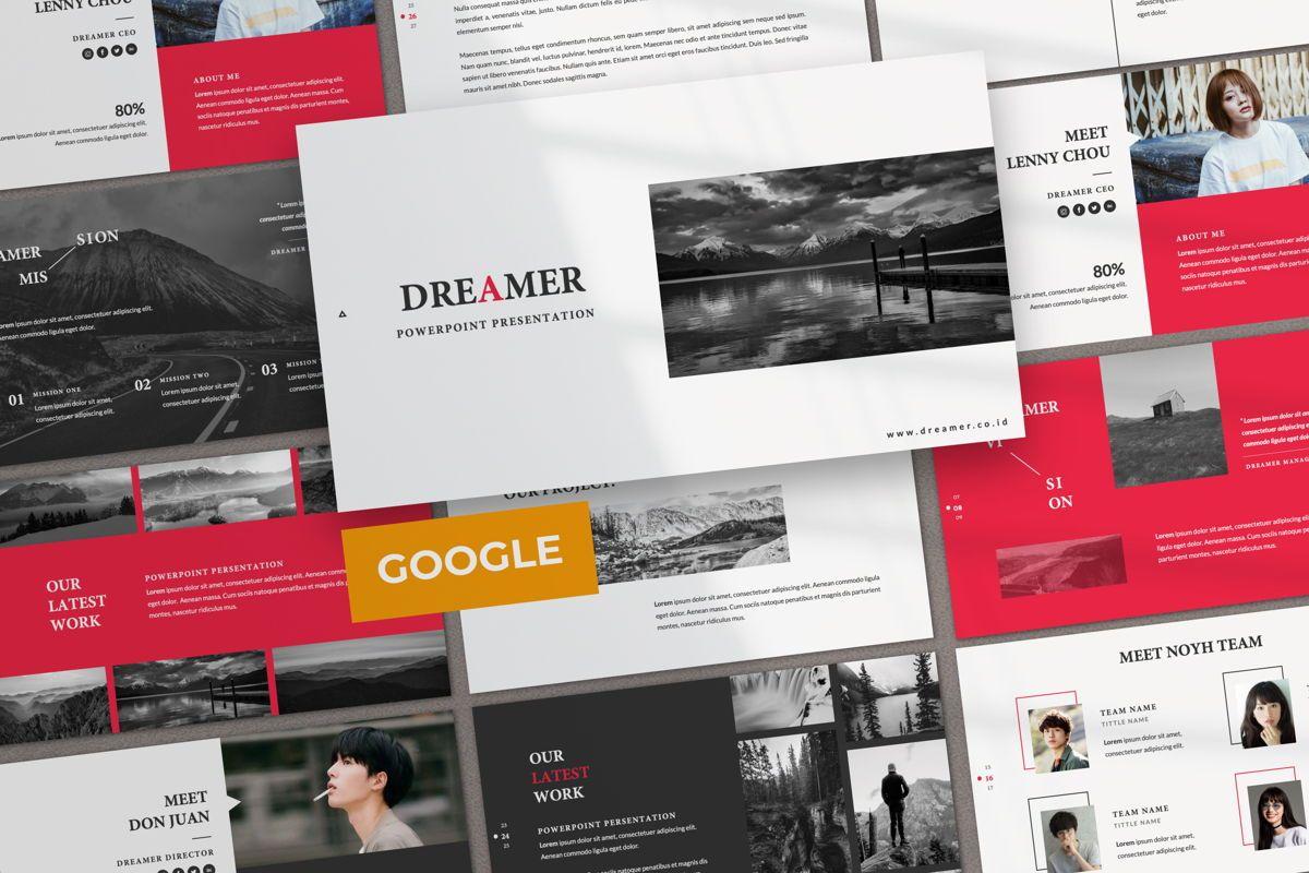 Dreamer Creative Google Slide, 06379, Presentation Templates — PoweredTemplate.com