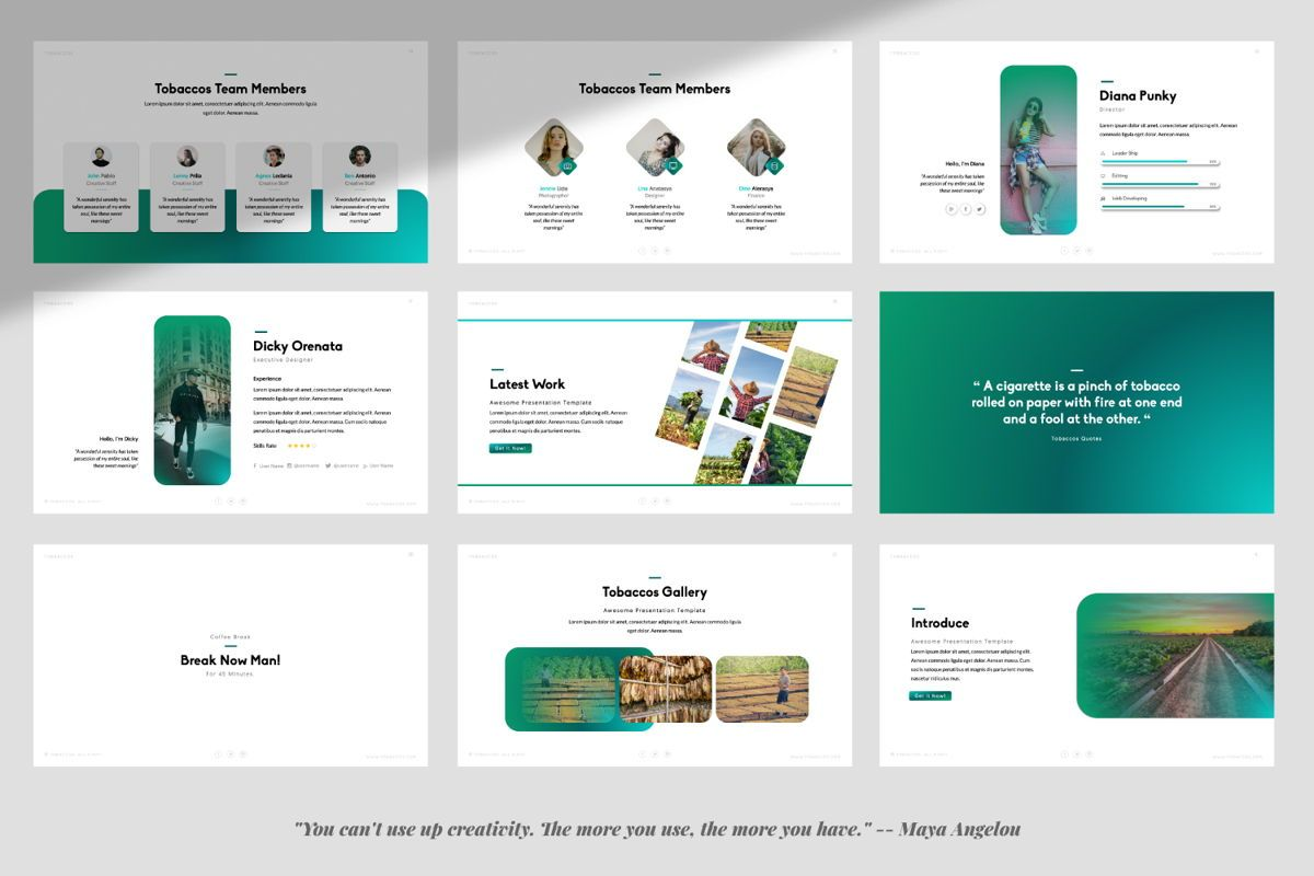 Tobaccos Creative Powerpoint, Slide 3, 06380, Presentation Templates — PoweredTemplate.com