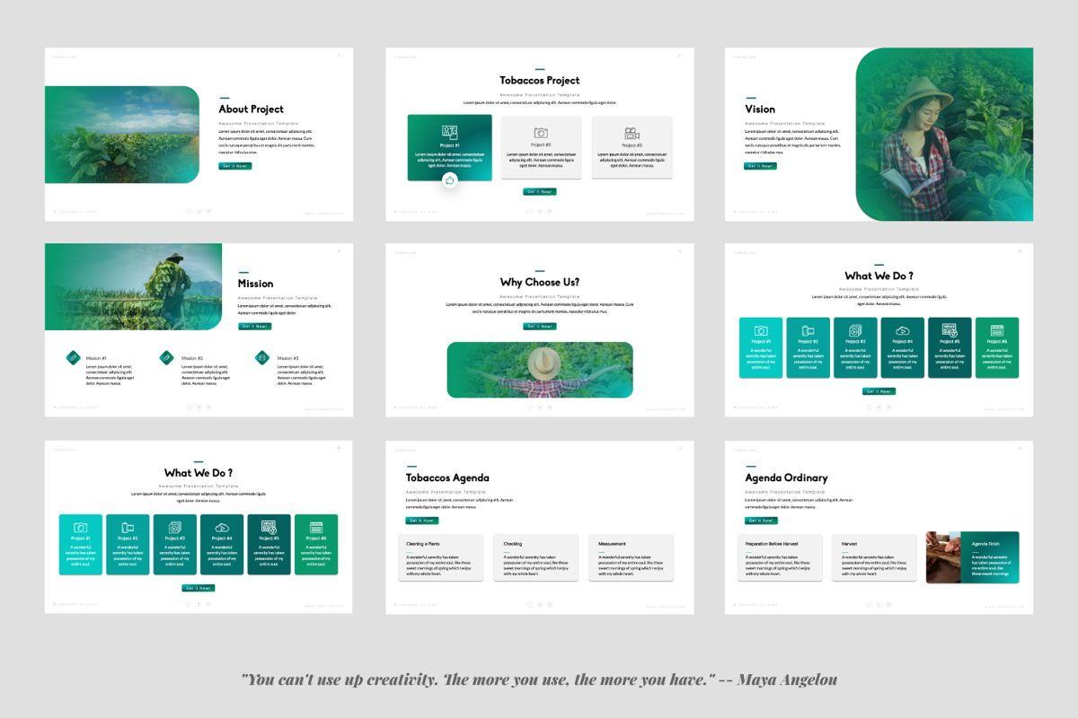 Tobaccos Creative Keynote, Slide 2, 06381, Presentation Templates — PoweredTemplate.com