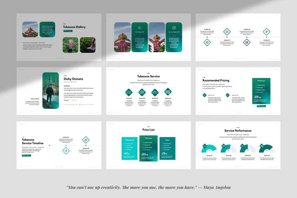 Tobaccos Creative Keynote, Slide 4, 06381, Presentation Templates — PoweredTemplate.com