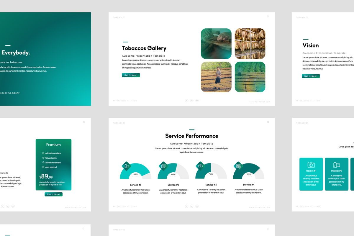 Tobaccos Creative Keynote, Slide 8, 06381, Presentation Templates — PoweredTemplate.com