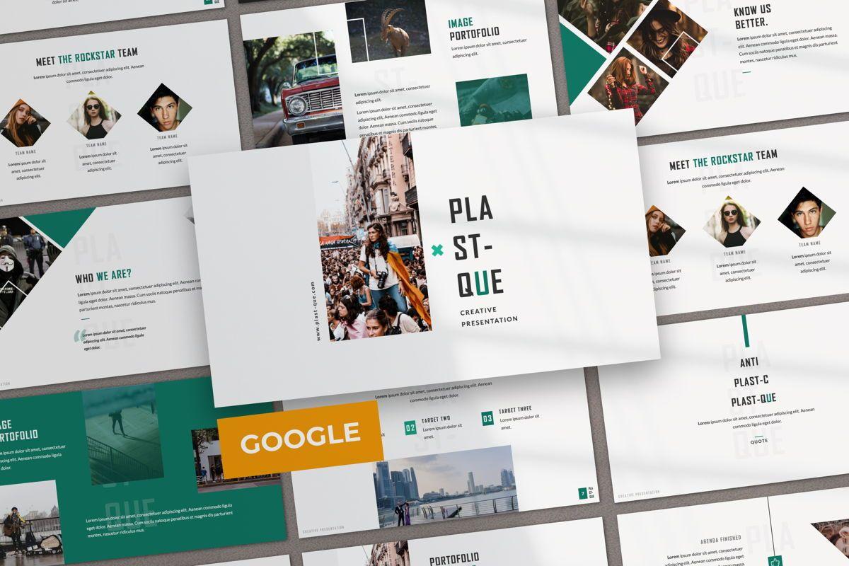 Plastique Creative Google Slide, 06385, Presentation Templates — PoweredTemplate.com