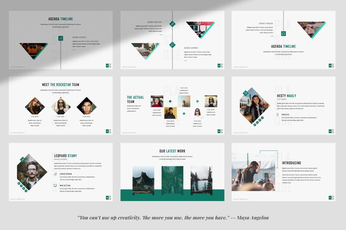 Plastique Creative Google Slide, Slide 3, 06385, Presentation Templates — PoweredTemplate.com
