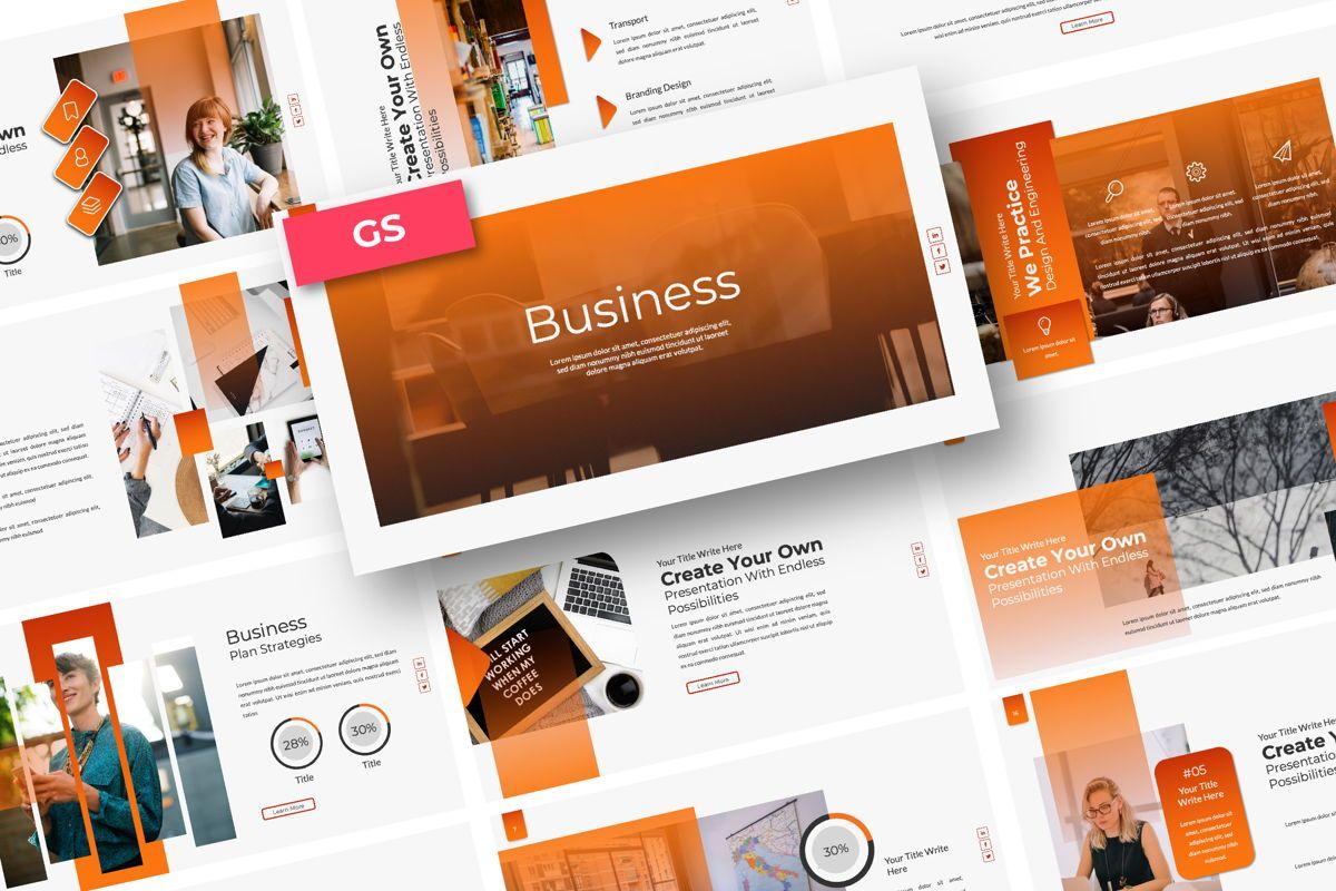 Business Creative Google Slide, 06386, Presentation Templates — PoweredTemplate.com