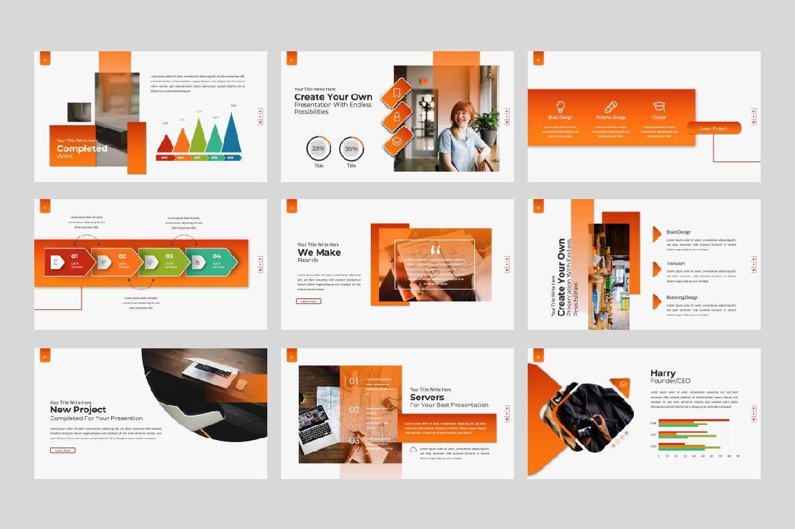 Business Creative Google Slide, Slide 4, 06386, Presentation Templates — PoweredTemplate.com