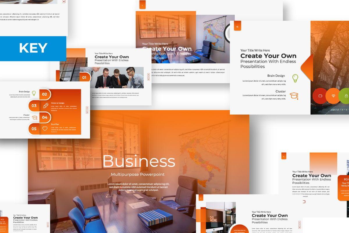 Business Creative Keynote, 06387, Presentation Templates — PoweredTemplate.com