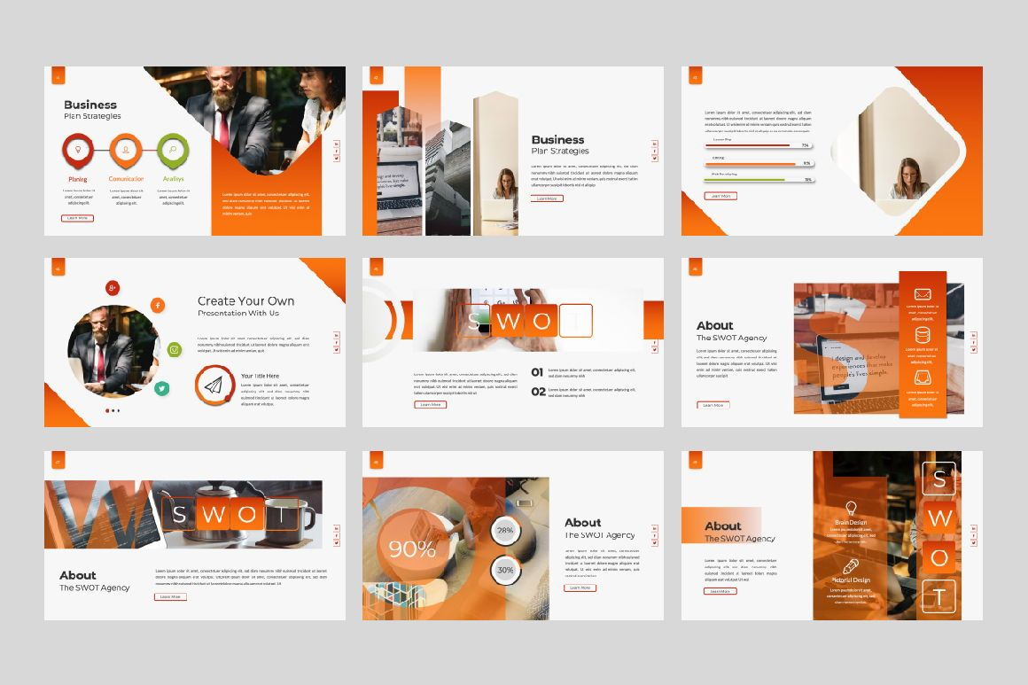 Business Creative Powerpoint, Slide 6, 06388, Presentation Templates — PoweredTemplate.com