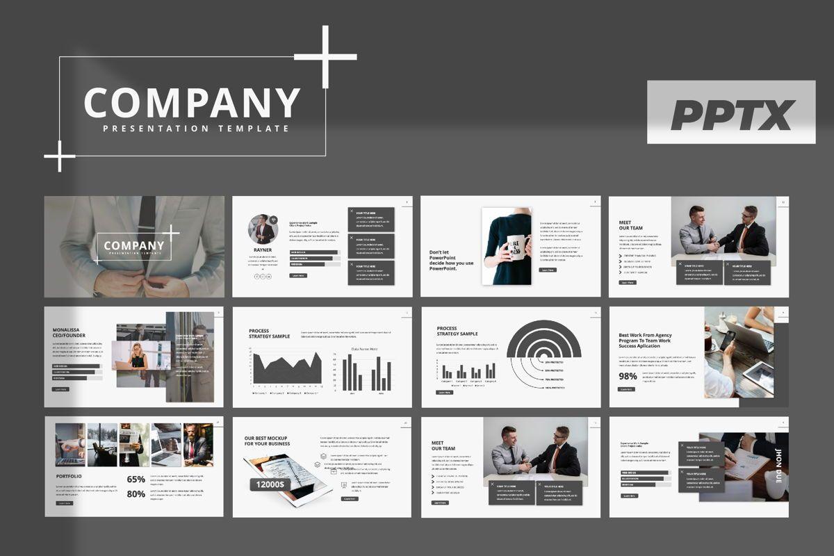 Company Creative Powerpoint, 06389, Presentation Templates — PoweredTemplate.com