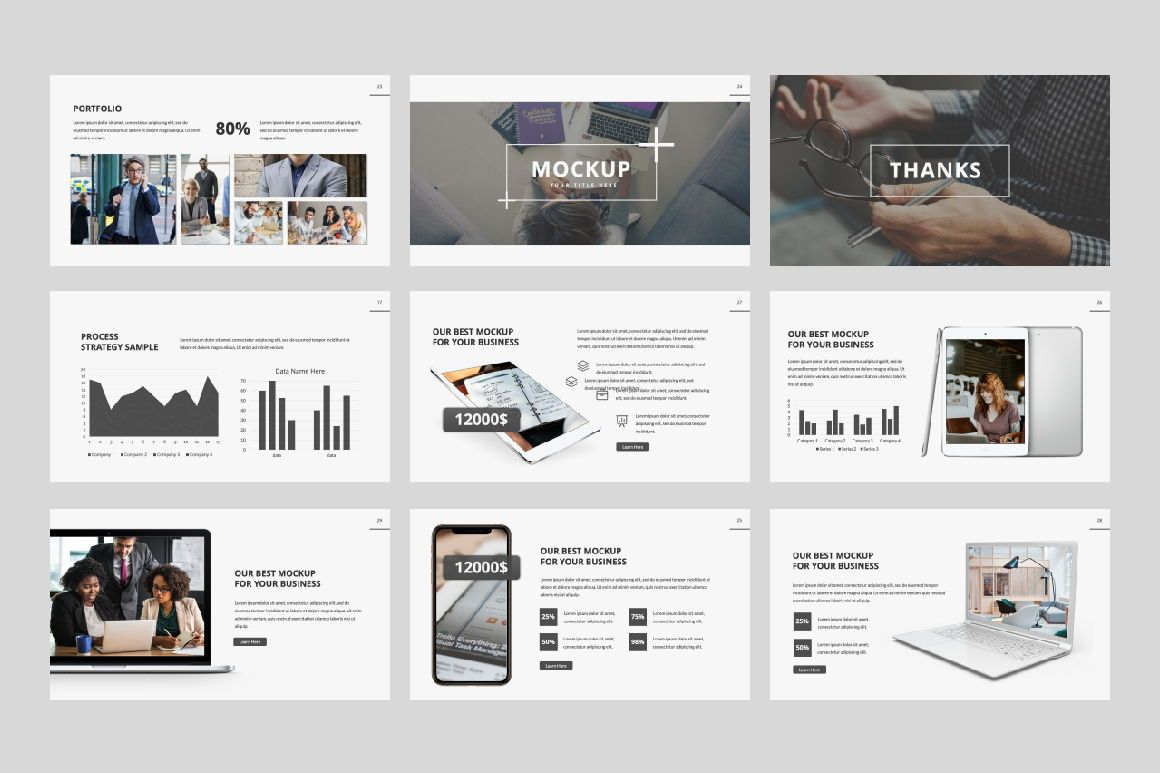 Company Creative Keynote, Slide 4, 06390, Presentation Templates — PoweredTemplate.com