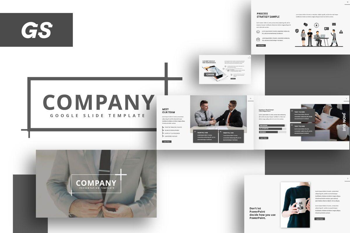 Company Creative Google Slide, 06391, Presentation Templates — PoweredTemplate.com