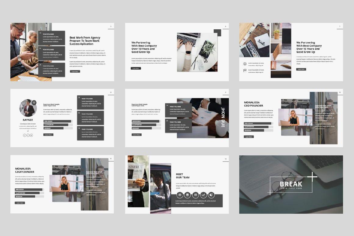 Company Creative Google Slide, Slide 2, 06391, Presentation Templates — PoweredTemplate.com