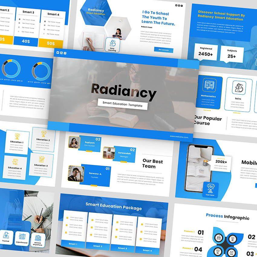 Radiancy - PowerPoint Presentation Template, 06392, Presentation Templates — PoweredTemplate.com