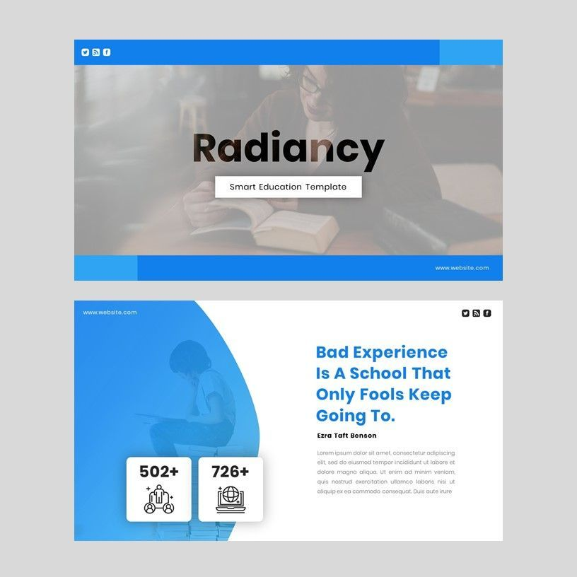 Radiancy - Google Slide Presentation Template, Slide 2, 06393, Presentation Templates — PoweredTemplate.com