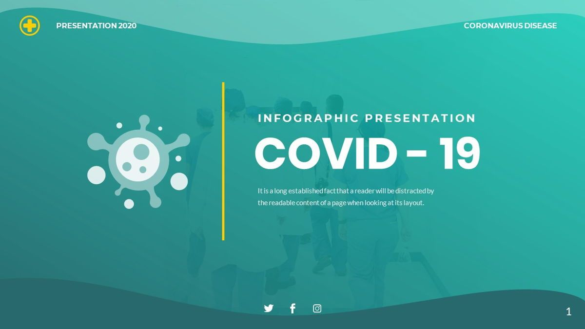 COVID 19 - INFOGRAPHIC Clean Presentation Powerpoints Template, 06397, Data Driven Diagrams and Charts — PoweredTemplate.com