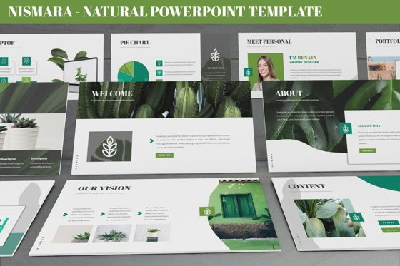 Data Driven Diagrams and Charts: Nismara - Natural Powerpoint Template #06398