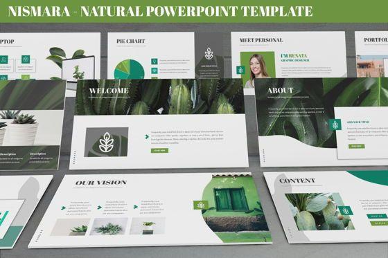 Data Driven Diagrams and Charts: Nismara - Natural Powerpoint Template #06398