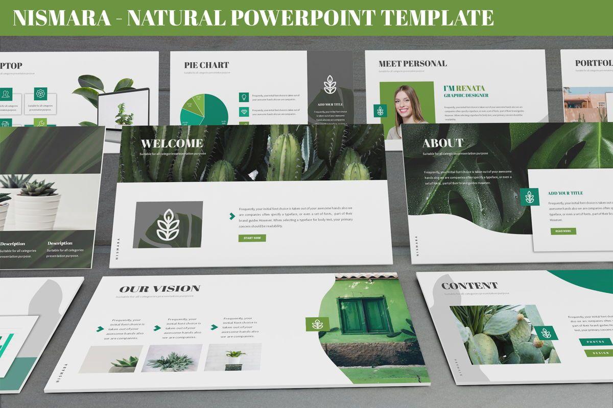 Nismara - Natural Powerpoint Template, 06398, Data Driven Diagrams and Charts — PoweredTemplate.com
