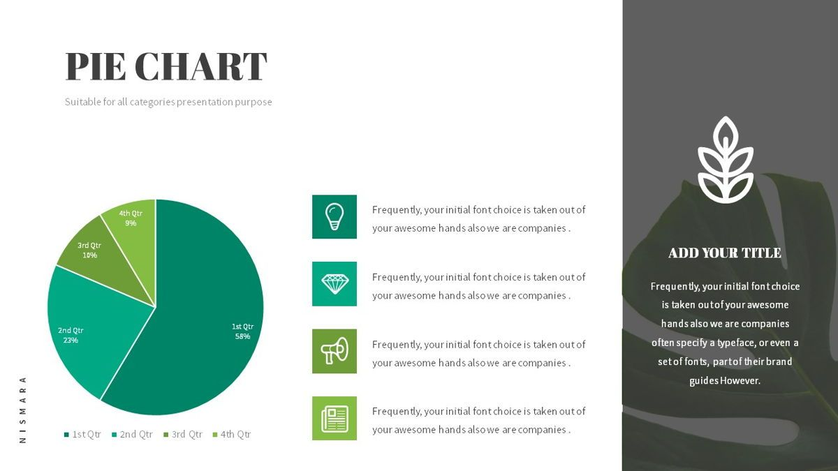 Nismara - Natural Powerpoint Template, Slide 23, 06398, Data Driven Diagrams and Charts — PoweredTemplate.com