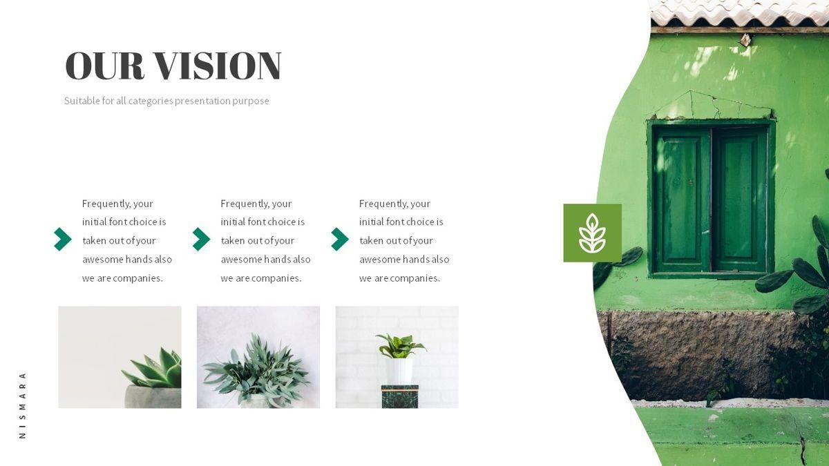 Nismara - Natural Powerpoint Template, Slide 5, 06398, Data Driven Diagrams and Charts — PoweredTemplate.com