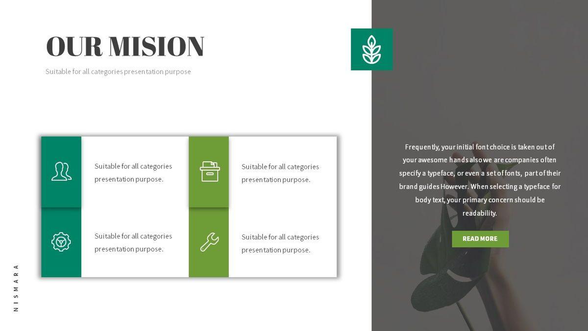 Nismara - Natural Powerpoint Template, Slide 6, 06398, Data Driven Diagrams and Charts — PoweredTemplate.com