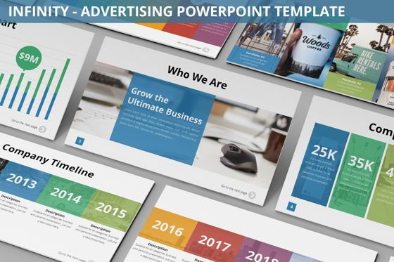 Business Models: Infinity - Advertising Powerpoint Template #06399