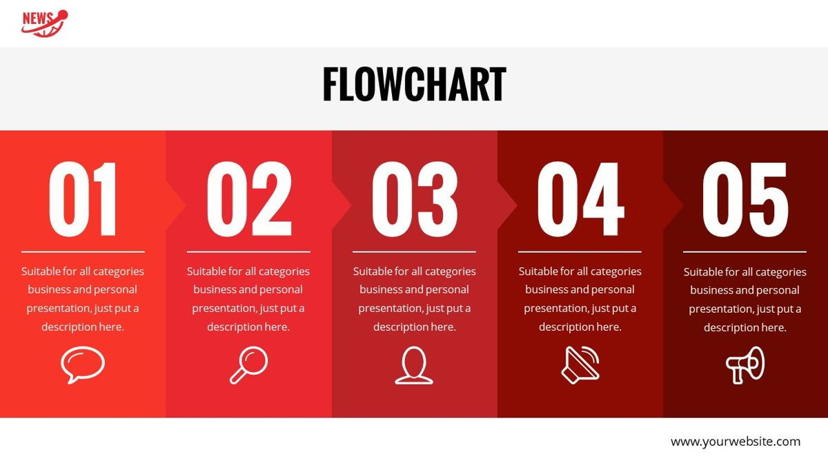 News - Multimedia Powerpoint Template, Slide 21, 06400, Data Driven Diagrams and Charts — PoweredTemplate.com