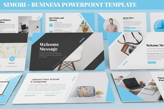 Data Driven Diagrams and Charts: Simori - Business Powerpoint Template #06401