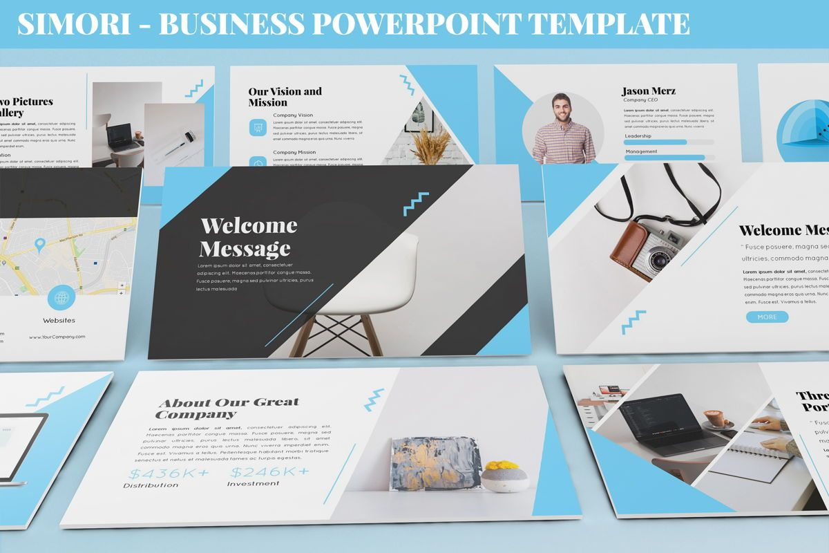 Simori - Business Powerpoint Template, 06401, Data Driven Diagrams and Charts — PoweredTemplate.com