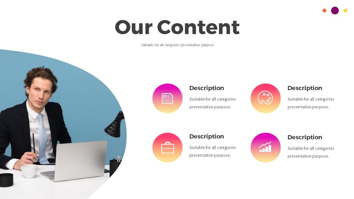 Glow - Gradient Powerpoint Template, Slide 7, 06402, Data Driven Diagrams and Charts — PoweredTemplate.com