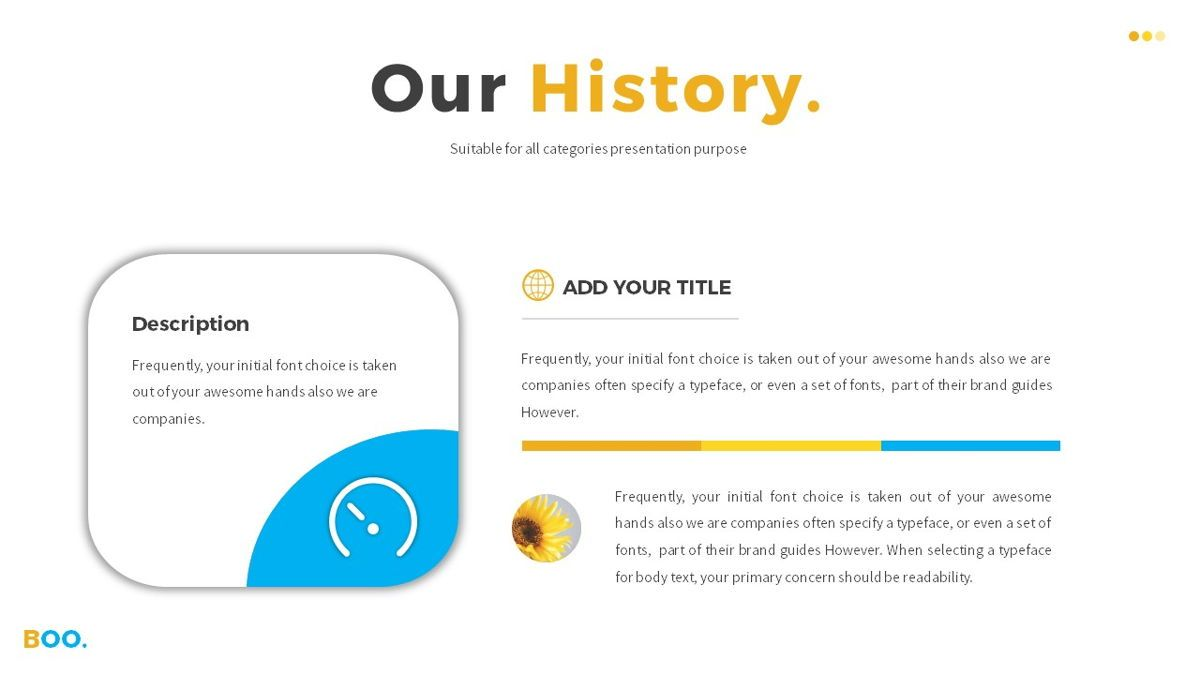Boo - Multipurpose Creative Powerpoint Template, Slide 10, 06403, Data Driven Diagrams and Charts — PoweredTemplate.com